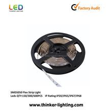 Factory wholesale flexible 220v led strip 5050 waterproof 60w ip68 outdoor
