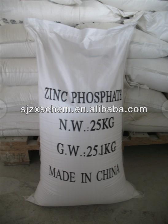 Haute qualité peinture à base d'eau polymère Zinc phosphate, 50 - 52% blanc de zinc, Les fabricants et fournisseurs