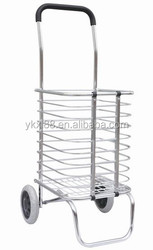 two wheels alumimium foldable shopping trolley ZZ905