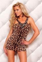 Para mujer mini-cortos tramo marrón leopard varios l2088-1