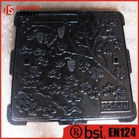 EN124 ductile iron 500x500 manhole cover square factory sale