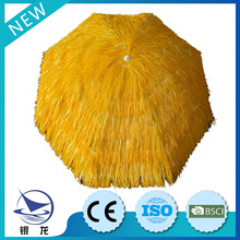 Light orange factory brand design straw umbrella, beach umbrella