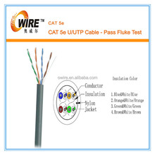 CAT5E 1000FT CAT5 UTP CABLE SOLID WIRE NETWORK ETHERNET BULK RJ45 LAN Gray NEW