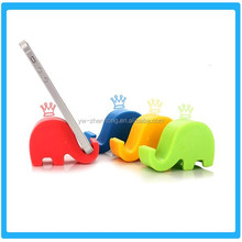 Hot Sell Silicone Elephant Shape Mobile phone holder/silicone smartphone stand