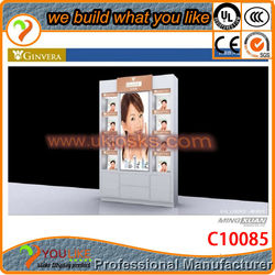 New invention! famous brand perfume cosmetic display stands design for sale with free design & your logo