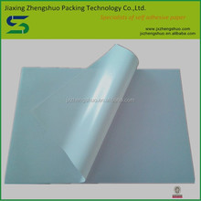 2015 low cost high quality glossy white pvc adhesive made in China