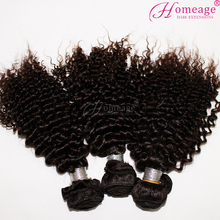 homeage superior 8a unprocessed remy fluffy kinky curl wholesale virgin brazilian hair weaving
