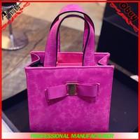 Pretty girls bags fashion sweet bowknot lady handbag