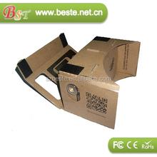 2015 hot selling DIY google cardboard vr google 3d google