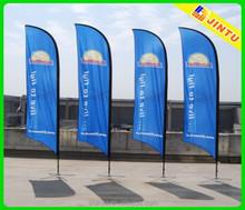 Pena da bandeira pólo de alumínio, vertical de bandeira, retângulo da bandeira bandeiras