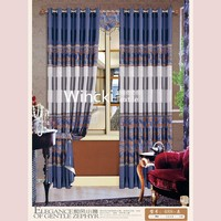 burnout modern design window curtain with printing blackout curtain fabric