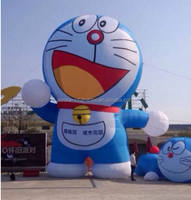 Popular advertising custom made oxford fabric inflatable doraemon cartoon