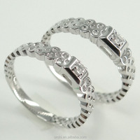 wedding jewelry 18k white gold couple rings with diamond