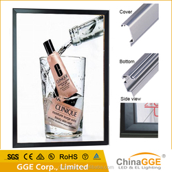 Slim Poster Acrylic LED Iighting Frame Pictures Board Advertising Aluminum Light Box