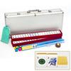 Hot Selling Golden Glitter Mahjong Tiles with Mahjong Racks