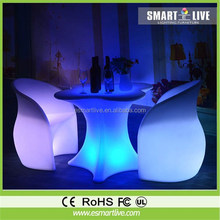 RGB rechargeable led bar chair/led sofa/led outdoor furniture