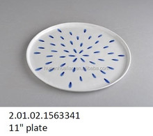 thin porcelain round large plate