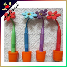 decorative promotional pen,rubber flower ball pen,novelty pens