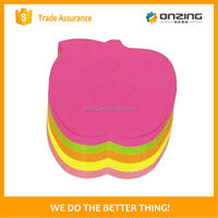 Onzing good quality fruit shaped 3d sticky notes writing paper in hot saling
