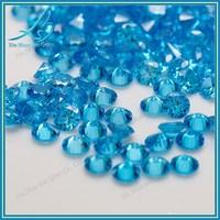 Round brilliant cut 1mm aquamarine cz stone for sale