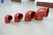 UL Listed 90 grado codo de tubería ranurada pipe fitting y acoplamiento en el sistema contra incendios