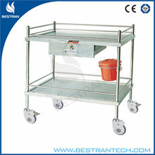 BT-SIT007 Good quality stainless steel Instrument Table with Shelf