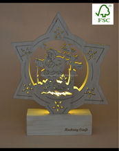 Fashional wooden Santa Claus handicraft, laser cutting Christmas decoration