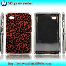 Chrome Plated Hard Leather Skin Cover for Samsung Galaxy P3100
