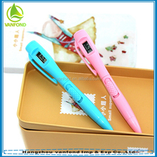 Promotional multi-funtion LED ballpoint pen with clock