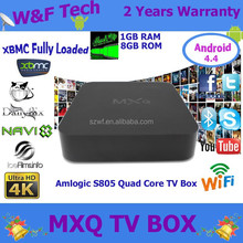 factory price dual core mx android smart tv box MXQ S805 1GB RAM 8GB Flash XBMC installed Fully Loaded android tv box mxq