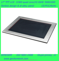 PPC-GS1751T 17 inch all in one touch screen pc for fanless industrial design