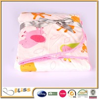 100% Polyester super soft micro mink blanket with cross ribbon packing Micro Plush Baby Blanket