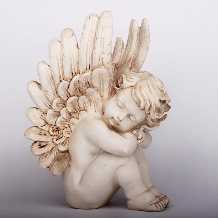 Custom resin sleeping baby angel statue for sale