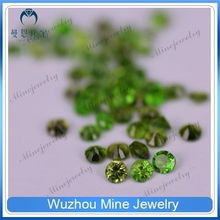 Finely process Green Round Hydro Chrome Diopside