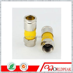 competitive price Zinc Alloy f connector Connector IP67 Water Resistance