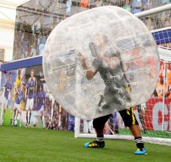 100% PVC or TPU bubble foot ball for sale, loopyball, bubble soccer