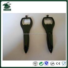Hot selling plastic bottle opener pen with string