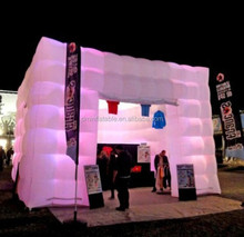Inflatable lighted cube tent for advertising,inflatable lighted photo booth tent