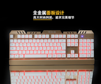 LED light wired usb gaming Mechanical Keyboard