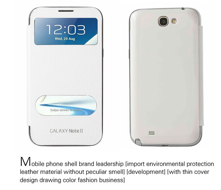 Wholesale Leather Mobile Phone Case,Flip Waterproof cheap Mobile Phone Cover , phone shell for Samsung N7100