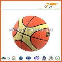 custom printed logo basketball printed colorful rubber basketball