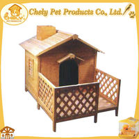 Cheap Nice Looking Solid Wood XXL Dog House With Proch Pet Cages,Carriers & Houses