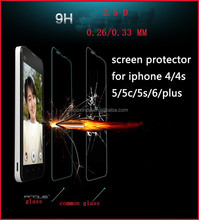 factory price 0.26mm /0.33mm film for iPhone 6s for iphone 6 tempered glass screen protector and s6 edge tempered glass