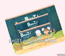 Popular In Europe REACH standard Clear PVC plastic zipper bag for cosmetic bag