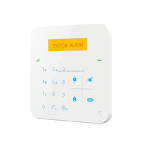 3 years'warranty APP home gsm alarm system wireless with yellow LCD , RFID/SMS intruder alarm system