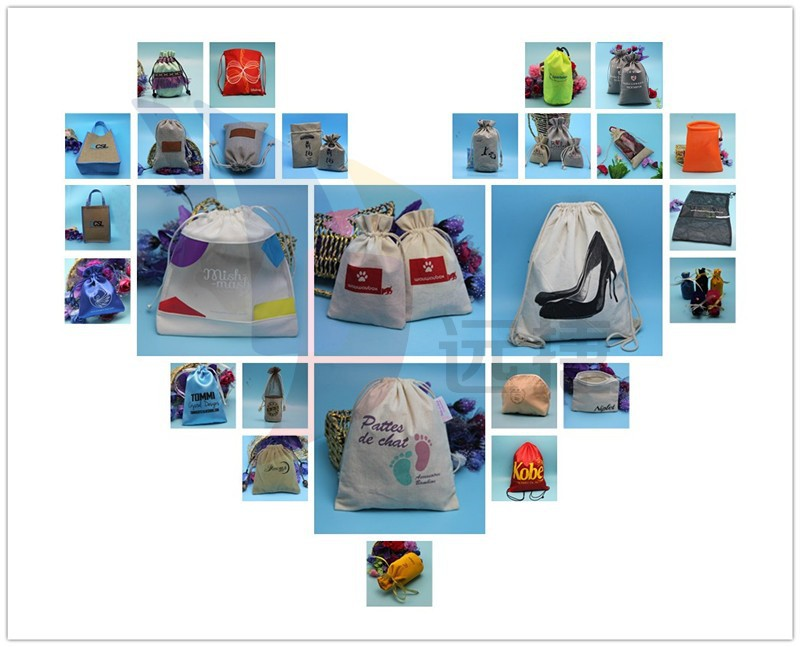 Yuanjie wholesale nice quality drawstring closure christmas gift packing bag
