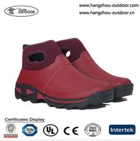 Stylish Lightweight Waterproof Red Neoprene Ankle Boots For Women