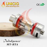 Wholesale electronic cigarette glass tank unicig authentic mutation x rta Indulgence MT-RTA big tank clearomizer
