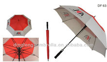Double canopies with air vents sun umbrella big enough for 2 adults umbrella