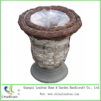 Rattan Planter Basket Birch Bark Flower Planter